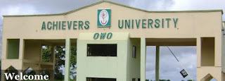 Achievers university owo post UTME