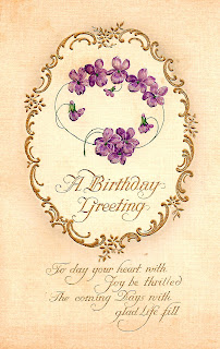 digital greeting birthday vintage download