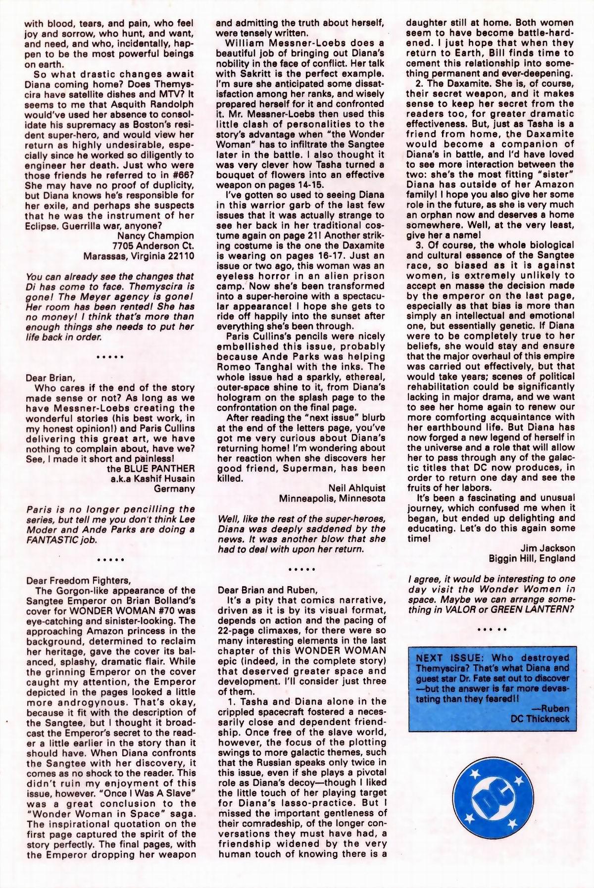Read online Wonder Woman (1987) comic -  Issue #76 - 24