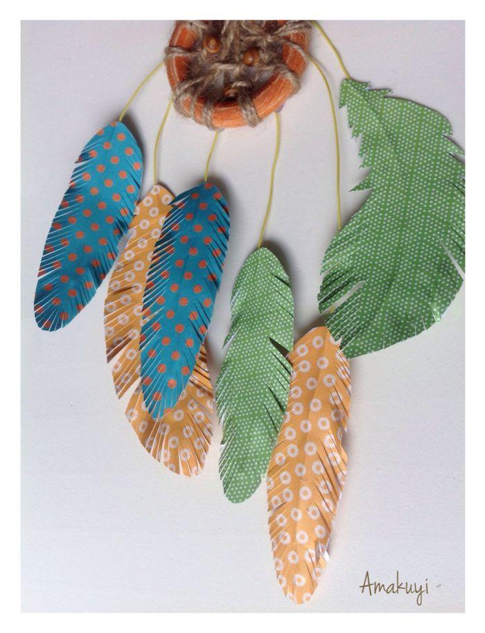 atrapasueños manualidad sencilla con plumas.