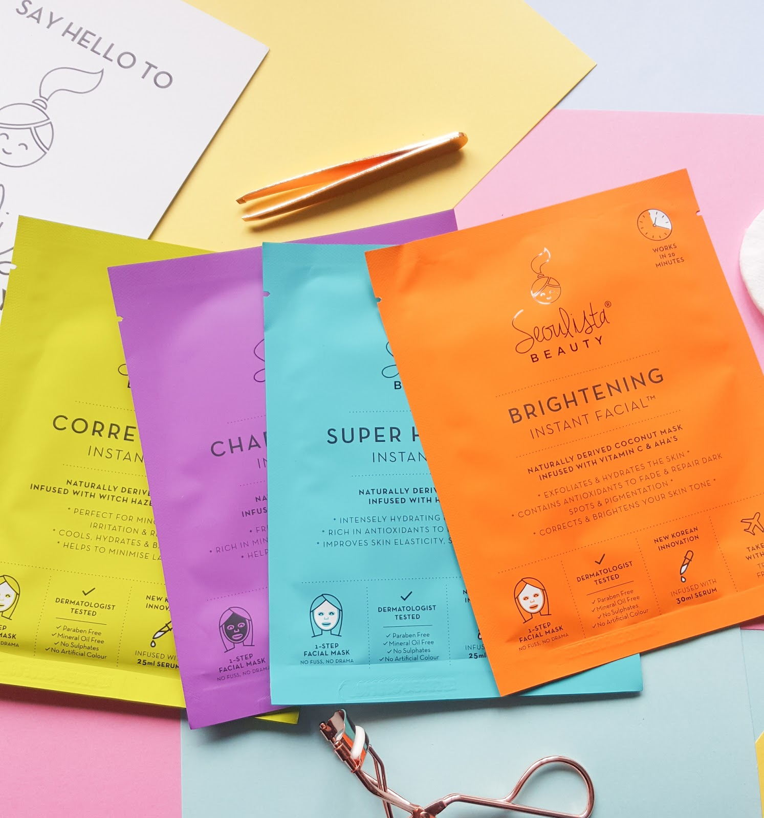 Seoulista Beauty Instant Facial Masks Launch In NI KBeauty
