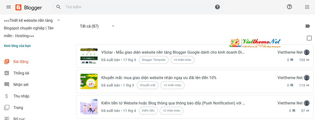 Blogger thay đổi diện mạo mới cho Trang quản trị từ cuối tháng 6/2020