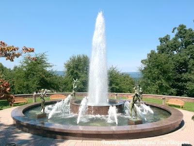 Water Fountain at Reservoir Park in Harrisburg Pennsylvania