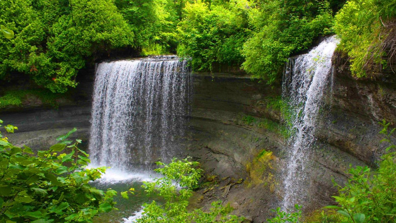 Good Morning Quotes Hd Wallpaper Download Beautiful Nature Water Fall Hd Latest Wallpaper 1080p