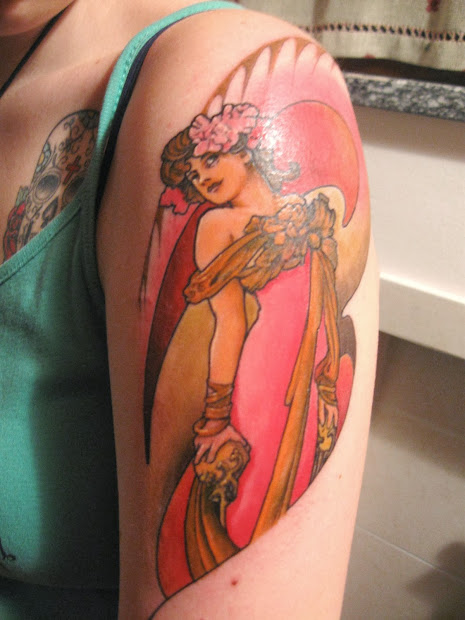 Tattooz Design Art Nouveau Tattoos Women Ideas