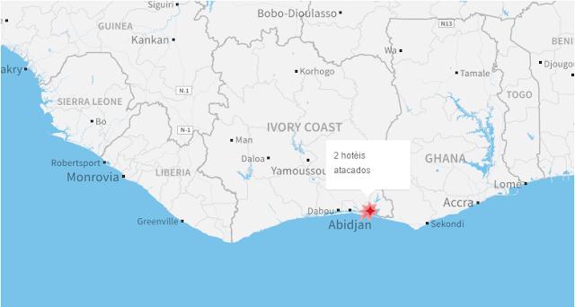 Tiroteio atinge balneário da Costa do Marfim