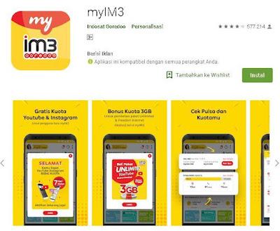 cek nomor indosat melalui aplikasi myim3