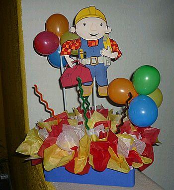 fiestas infantiles decoracin bob el constructor centros de mesa