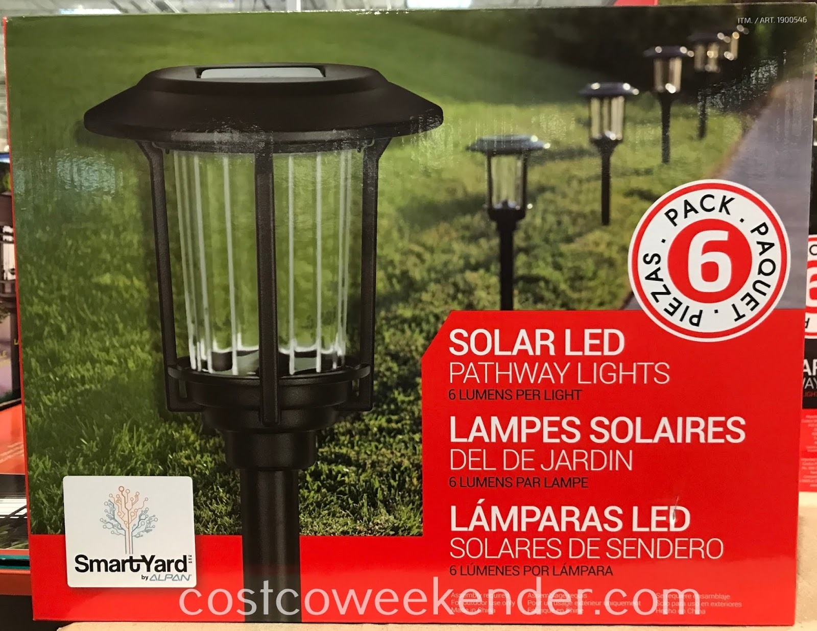 Illuminate the exterior of your house with SmartYard Solar LED Pathway Lights