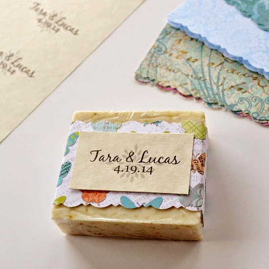 DIY soap wedding favors by Over The Apple Tree