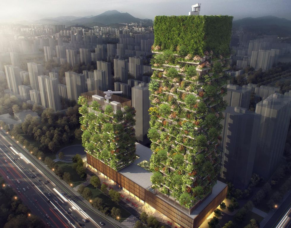 These Vertical forest buildings are the solution to rising pollution levels in China