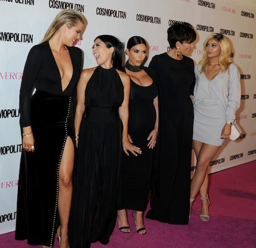 Khloe, Kourtney and Kim Kardashian, Kris, and Kylie Jenner