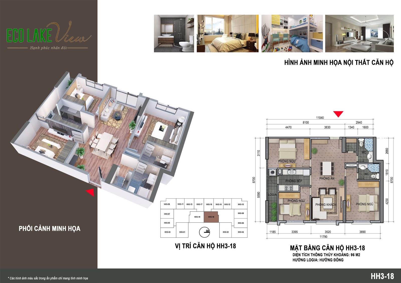 Thiết kế căn hộ 09 tòa HH03 Eco Lake View