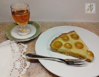 Tarta Vegana de Mirabeles.