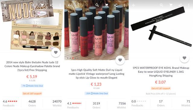 Älä osta väärennettyjä meikkejä