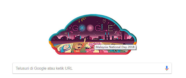 Google Doodle Malaysia National Day 2018