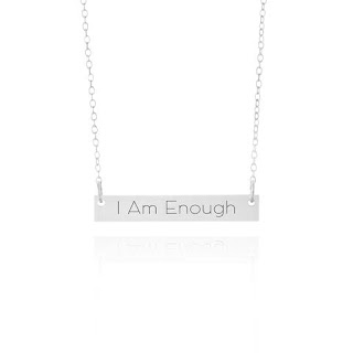 I Am Enough Silver Necklace