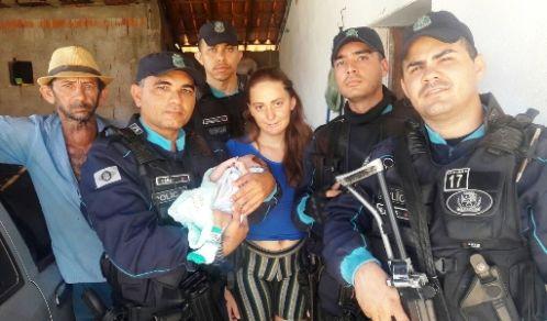 Em Icó-CE: Recém-nascido é salvo por policiais militares
