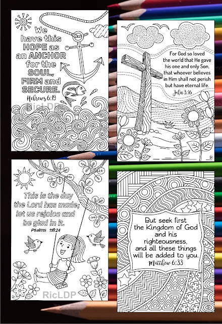 scripture cards coloring