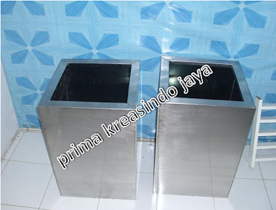 jual pot bunga stainless