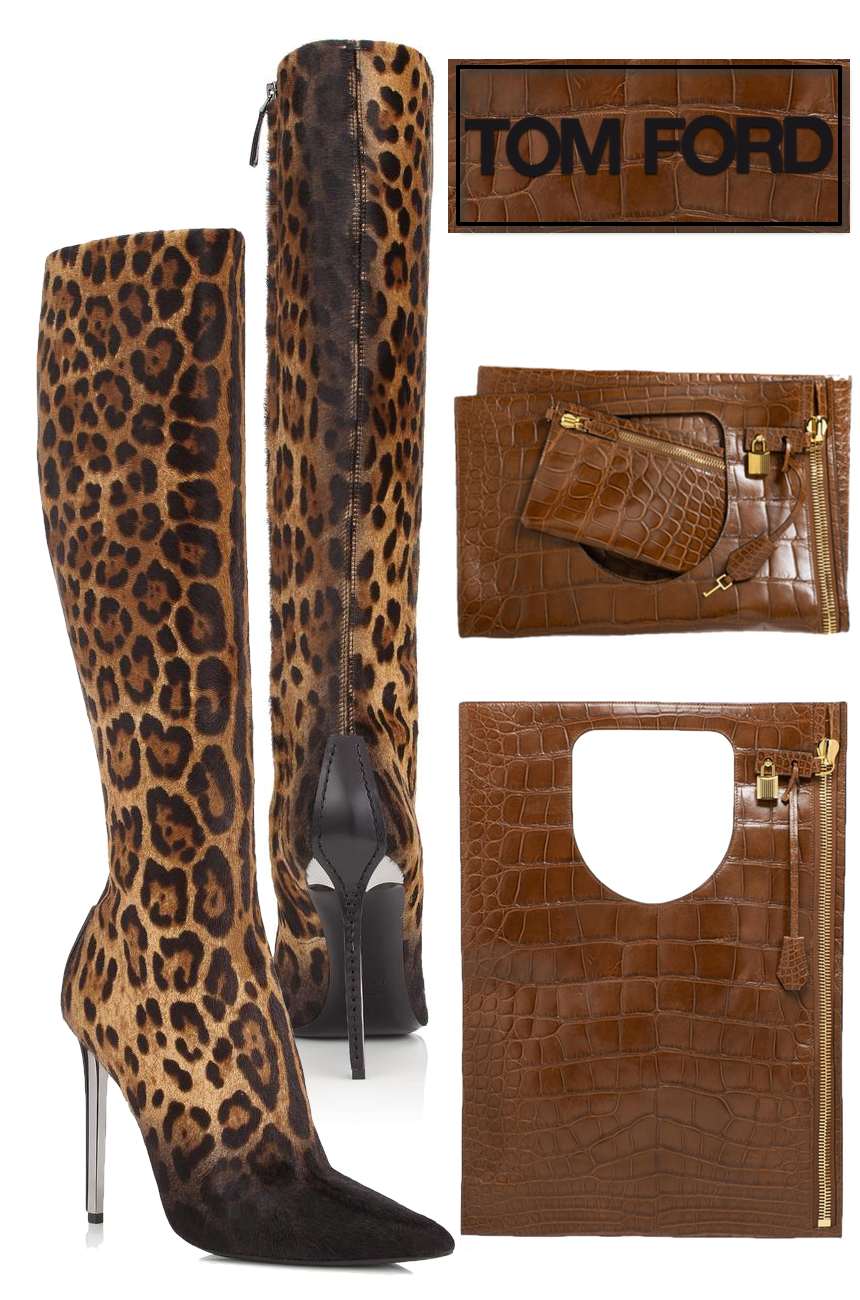 TOM FORD JAGUAR PONY STILETTO KNEE HIGH BOOT