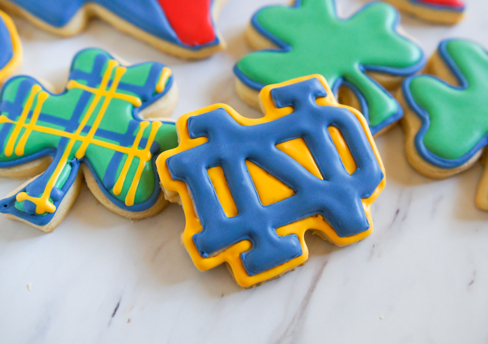 Texas Notre Dame decorated cookies ♥ #goirish