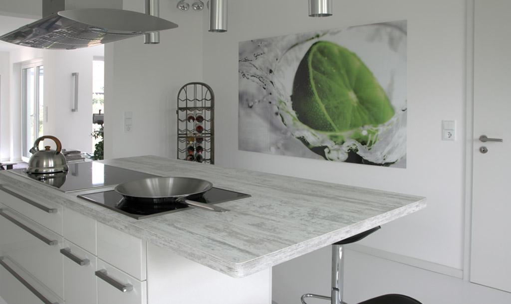 Weiße Arbeitsplatte Küche St81 – Hitoiro