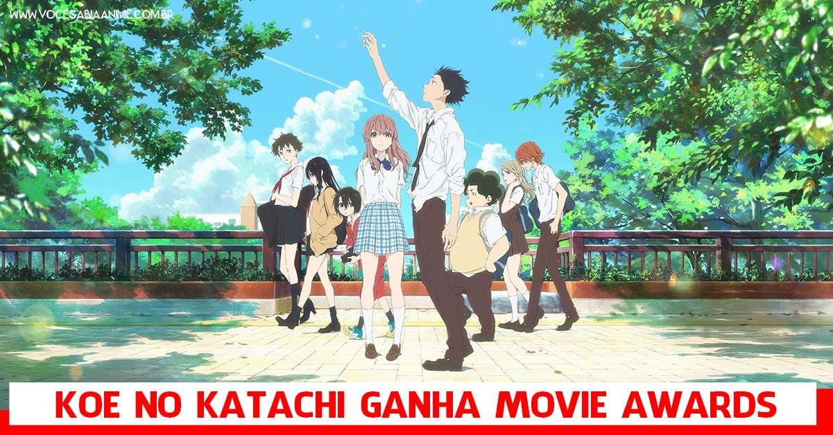 Koe no Katachi ganha o Japan Movie Critics Awards.
