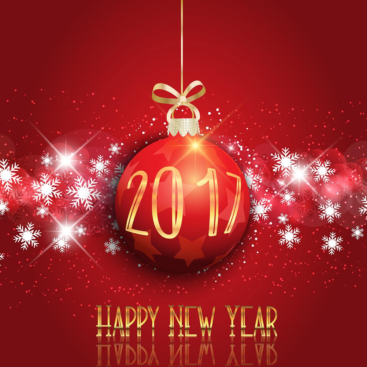 Happy New Year 2017 3D Wallpaper