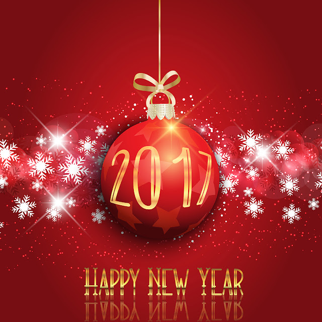 Happy New Year 2017 3D Wallpaper