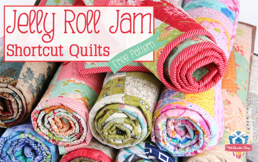 Fat Quarter Shop S Jolly Jabber Jelly Roll Jam Free Quilt