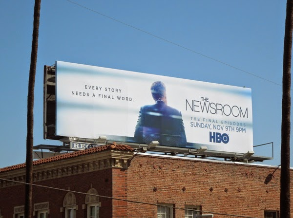 The Newsroom final season 3 billboard
