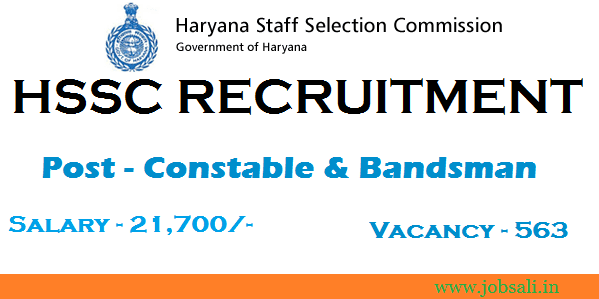 hssc jobs Notification, jobs in chandigarh, HSSC Constable jobs