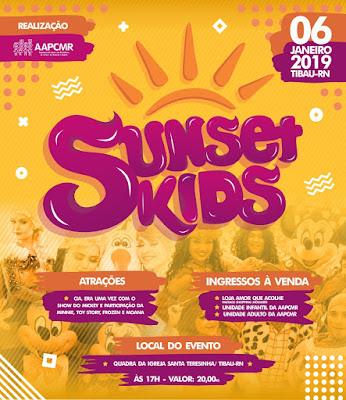 Resultado de imagem para Associação promove Sunset Kids em Tibau