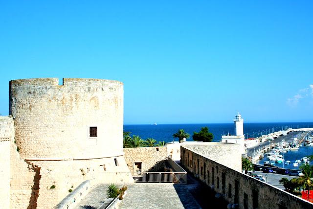 castello, cielo, monumento, panorama, mare, porto
