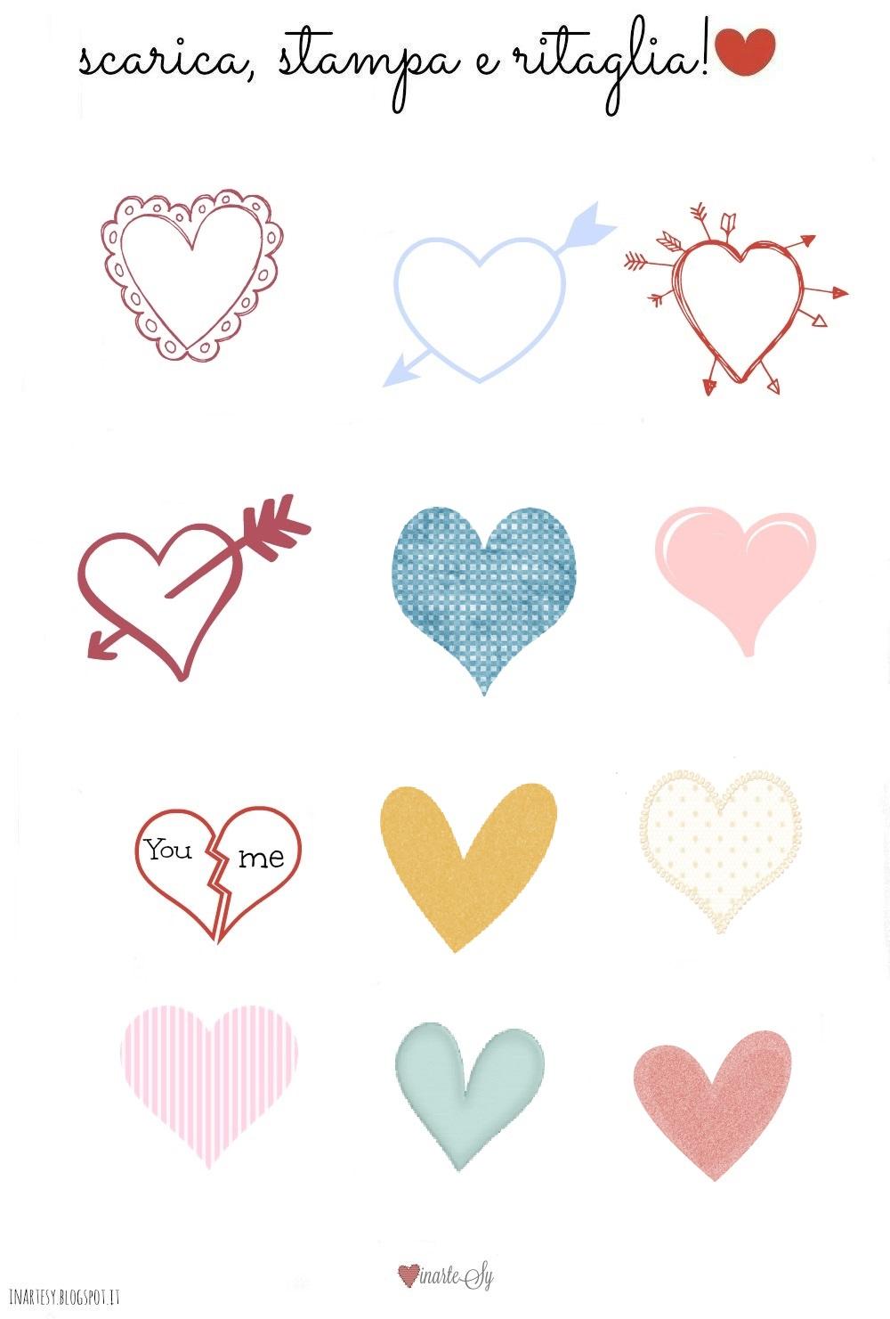 Favorito inartesy- Handmade, Food, Graphics, Lifestyle: ♡ Stickers cuori  JF46