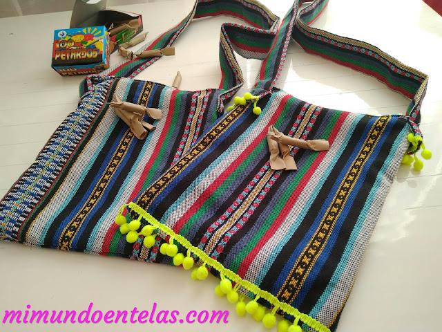 bolsos falleros con telas recicladas