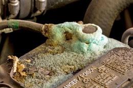 Corrosion de batterie de voiture