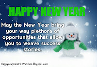 happy new year 2019 wishes in english