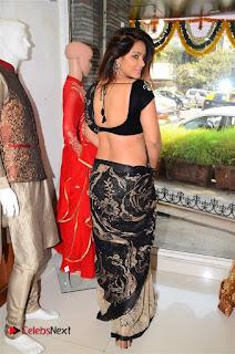 Actress Neetu Chandra Stills in Black Saree at Designer Sandhya Singh's Store Launch  0047.jpg