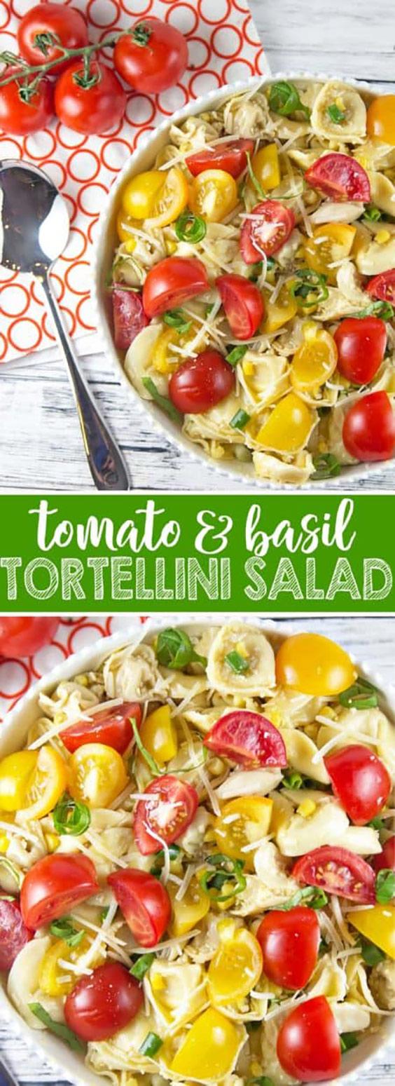 Easy Tomato Basil Tortellini Salad