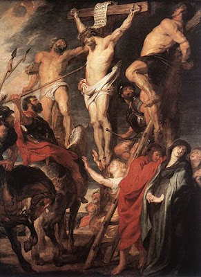 ルーベンス、磔のキリストと2人の盗人