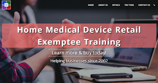 California HMDR Exemptee Training Certification Course for home medical device retailers (accepted by the California Department of Public Health - Food and Drug Branch)