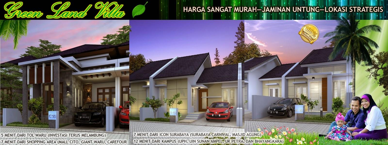 Hasil Jasa Desain Rumah Minimalis - Perumahan Green Land Villa - Banner