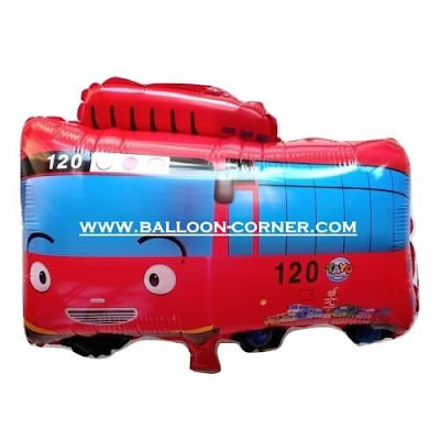 Balon Foil Karakter  Little Bus Tayo (Merah)