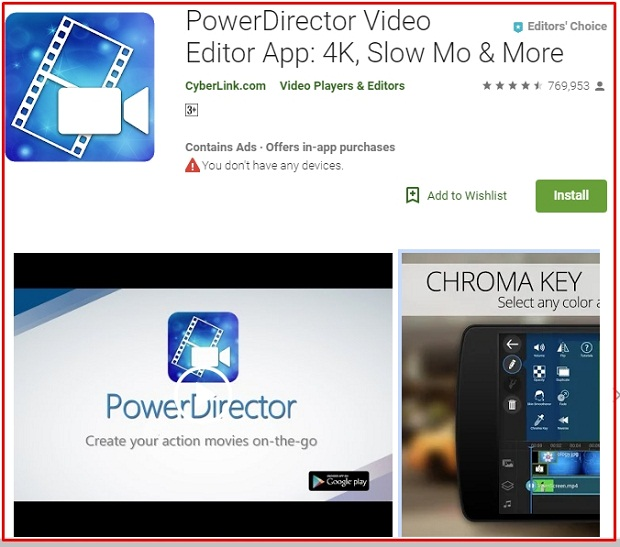 Software PowerDirector Video Editor App Terbaik 2019