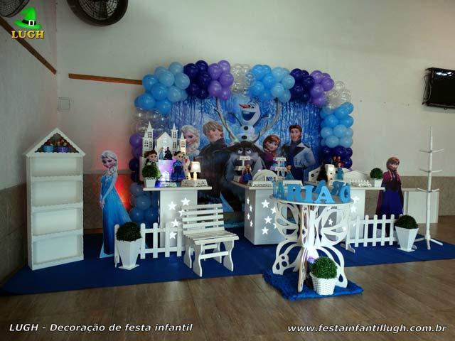 Decoração provençal - Festa infantil feminina tema Frozen