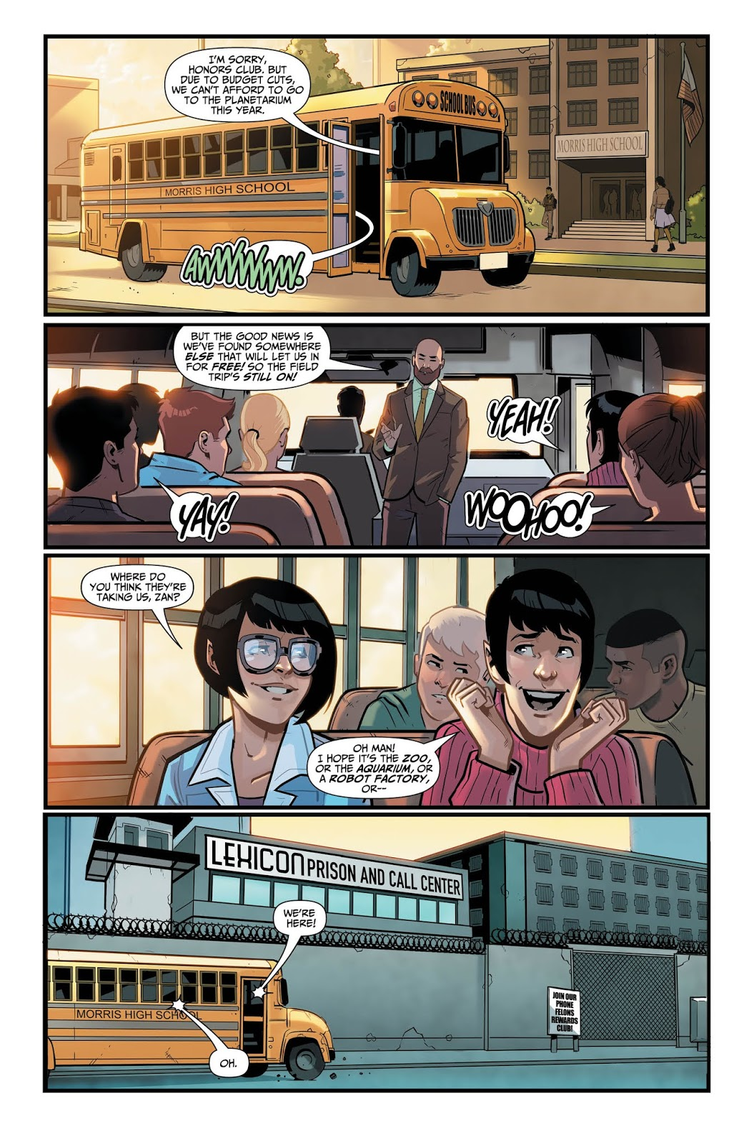 WONDER TWINS #2 Page 4. Image Courtesy of DC Entertainment.