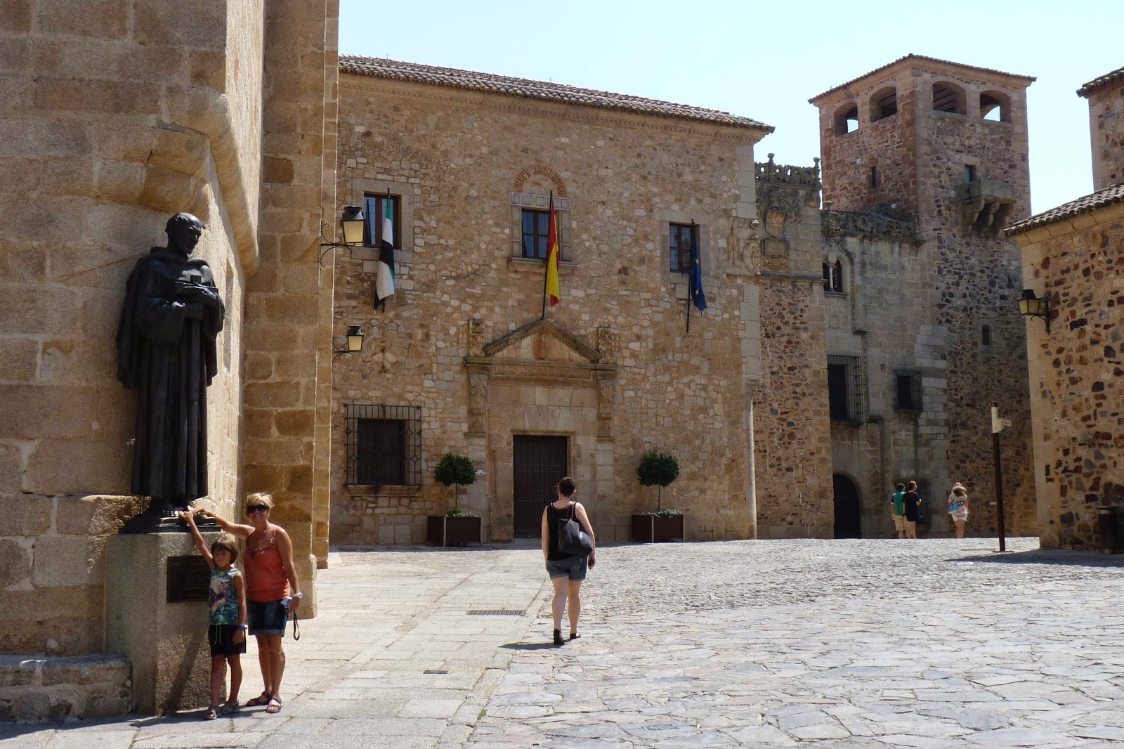 Cáceres, Plaza Santa María, Palacio de la Diputación Provincial.