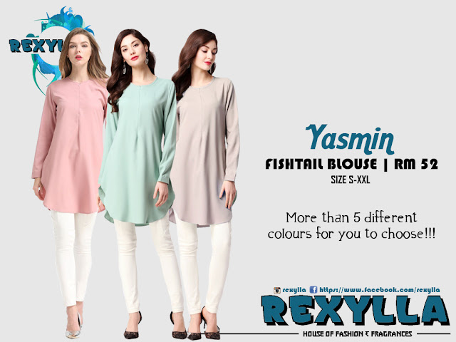 rexylla, fishtail, fishtail blouse, yasmin collection